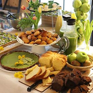 Buffet petit déjeuner chambre d'hôte