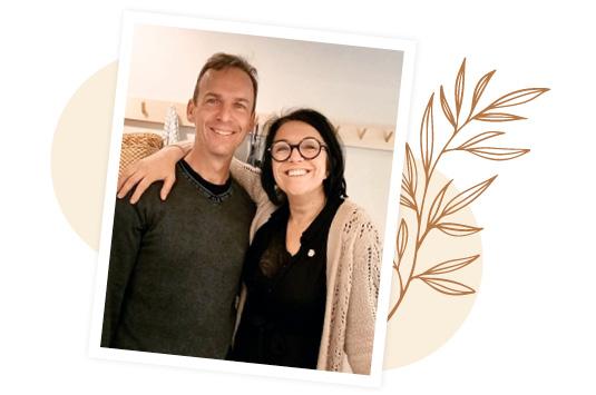 Karine et David, hôtes de l'hébergement à Angoulins