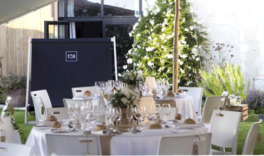 Repas de mariage dans le jardin du Carré 1705