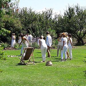 Partie de Molky dans le jardin du carré 1705